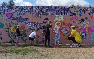 Räikee2021 kesän graffitipajasta.
